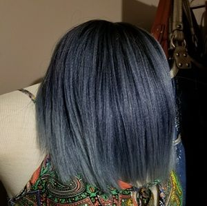 Purple & Grayish Syntetic Wig Never Worn